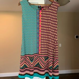 Style and Co Tribal Print Dress Plus Size 0X